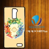 Custom Casing HP OPPO R7 Plus Pokemon Tribal Pokeball Z3787 Hardcase,