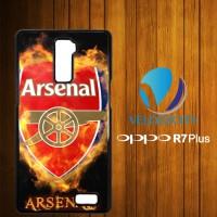 Custom Casing HP OPPO R7 Plus Arsenal logo Art Fire Z3736 Hardcase, Cu