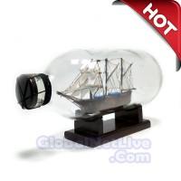 Miniatur Kapal Pinisi Dewaruci Dalam Botol P19- Hiasan Pajangan rumah