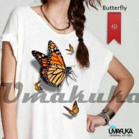 BUTTERFLY - Kaos 3D Umakuka Ladies Model Sabrina