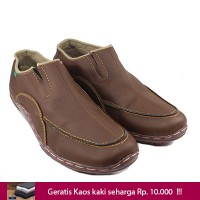 Kickers Slip On Sepatu Pria Casual Brown Free Kaos Kaki Handmade Toko