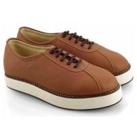Sepatu Docmart Wanita Cewek Dokmar Casual EW299 Coklat