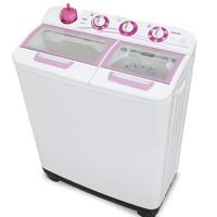 Sanken TW-1123GX Mesin Cuci 2 Tabung 10kg - Putih/Pink