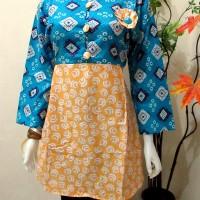 Blus Tisera,Baju murah, atasan, batik kerja modern,baju wanita etnic