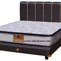 Spring Bed Bigland Silver Double Plus Top 100x200 Komplit Set