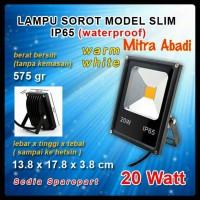 harga Lampu Sorot LED/Lampu Tembak LED/LED Flood Light 20 Watt Warm White Tokopedia.com