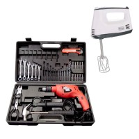 Black And Decker 13mm VSR - HD560K Mesin Bor Tembok Set + Hand Mixer