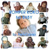 Baju Koko bayi set peci pakaian muslim baby