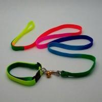 Harnes Kalung Anjing Pom Rainbow