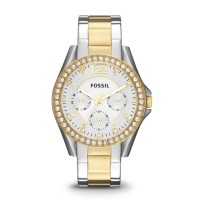 Fossil ES3204 - Riley Multifunction Two-Tone Stainless Steel Watch