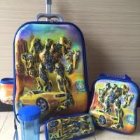 Jual Tas Trolley Anak 4 In 1 6D Transformer Bumbble Bee Murah