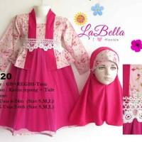 harga Dress Baju Muslim Gamis Anak Bayi Pink Lucu Labella 6-24 bulan Tokopedia.com