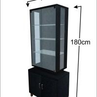 Lemari/Rak Hias/Pajangan HPL Hitam Gliter - LH102