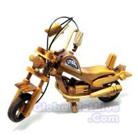 Jual Miniatur Motor Harley Davidson Kayu Jati - Pajangan Dekorasi Ruangan Murah