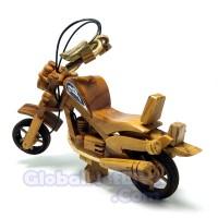 Miniatur Motor Harley Davidson Kayu Jati - Pajangan Dekorasi Ruangan