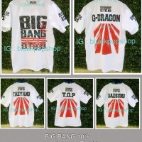 Kaos Lengan Pendek Kpop BIG BANG 10th Anniversary GD TOP TaeYang