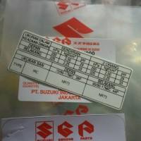 Stiker tekanan ban angin satria fu