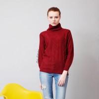 Jual Blouse Wanita Remaja Turtleneck Baju Atasan Turtle Cable Sweater Murah Murah