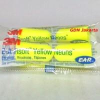 3M Yellow Neon Uncorded Ear Plug - Pelindung Telinga