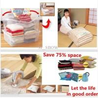 harga Vacum Vacuum Vakum Bag Plastik Kantong Tempat Pakaian 70 X 100 Cm Tokopedia.com