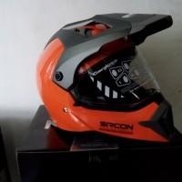 Helm Motor Cargloss Murah Sircon Supermoto SM Orange