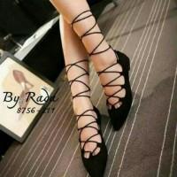 Jual Flat Shoes Tali Balerina SKL69 Hitam Sepatu flat murah wanita Murah