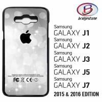 Casing / Cover HP Samsung Galaxy J1,J2,J3,J5,J7 2015 & 2016 Silver Gli