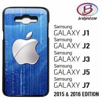 Casing / Cover HP Samsung Galaxy J1,J2,J3,J5,J7 2015 & 2016 Silver App