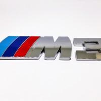 ///M3 Bmw Emblem Glossy/ M Power / Emblem M3 Untuk Bagasi (Bahan Besi)