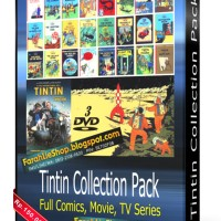 Tintin Collection Pack DVD Komik, Movies, TV Serial, Tintin All in one