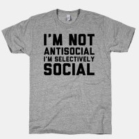 Tshirt / Baju / Kaos Not Anti Social