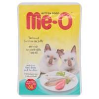 Me-o 80 gr Kitten Tuna and Sardine in Jelly