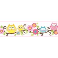 Wallborder/Wallpaper Dinding/Tembok/Roll/ Owl/ Burung Hantu 12mx10cm