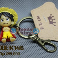 Gantungan Kunci Action Figure Luffy Mini Anime One Piece (Spade Anime)
