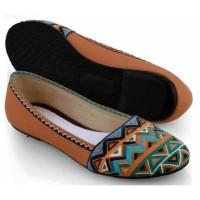 harga Sepatu Casual Flat Wanita Cewek Batik SO579 Coklat Tokopedia.com