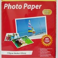 Harga kertas foto 130gr a4 stiker glossy photo paper | antitipu.com