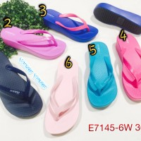 E7145-6w Sandal Wanita Jepit Luofu Sendal Wanita Jelly Sandal Wedges