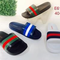 E6138 Sandal Pria Luofu Sendal Pria Karet Import Slop Sandal Cowok