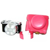 Leather Case For Nikon 1 J5 - PINK