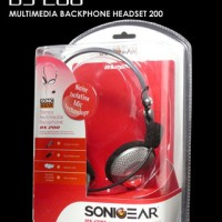 SONICGEAR BS200 - PC Stereo Mutimedia Backphone Heatset  Microphone