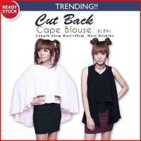 harga (2Styles) Cut Back Cape Blouse Baju Atasan Wanita BL891 Tokopedia.com