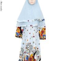 gamis muslimah syar'i anak motif kartun