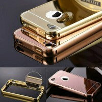 Luxury Aluminum Metal + PC Mirror Case for iPhone 4/4s