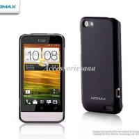 MOMAX Clear Touch Ultra Thin Case HTC One V Fre HD ScreenGuard - Black