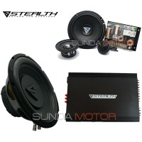 PAKET AUDIO STEALTH 3WAY + Instalasi By Sunda Motor