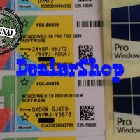 Coa Windows 10 Pro 32/64-bit OEM [ORIGINAL]+Bonus Sticker+DVD Installe