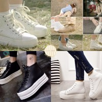 DOTS SHOES sepatu sneaker wedges white putih song hye kyoo drama korea