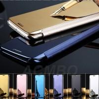 Casing Samsung Galaxy Note 5 Smart Flip Mirror Cover Hard Back Case