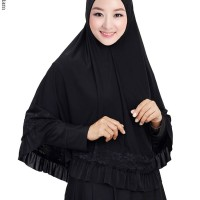 Jilbab Langsung Jersey Syar'i / Kerudung Syar'i Pet Jersey Renda