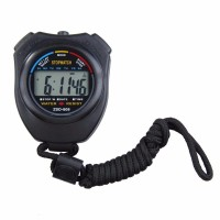 Professional Stopwatch Handheld LCD Chronograph Timer with Strap C130